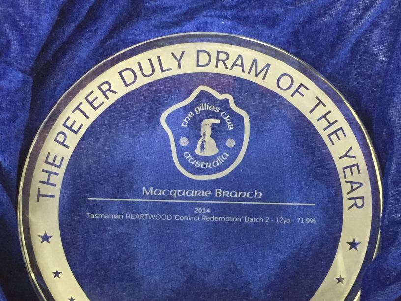 Peter Duly 'Dram Of The Year' Award